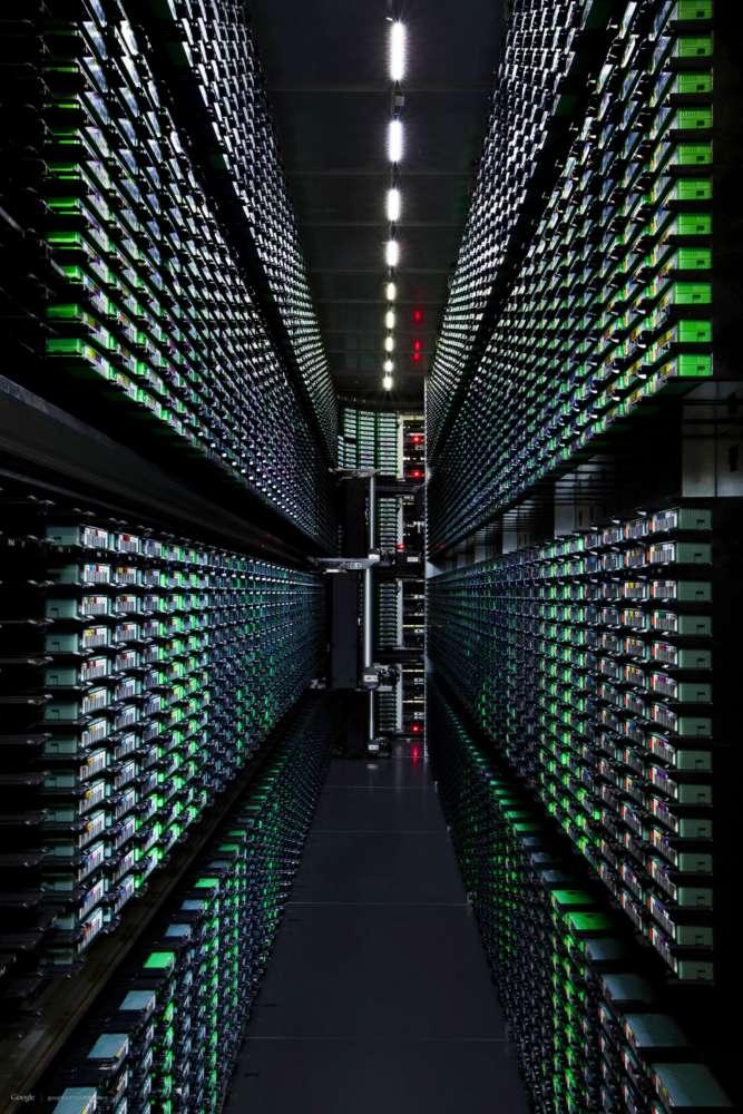 google data centre dark